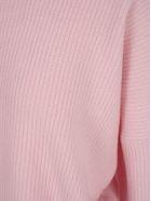Ben Taverniti Unravel Project Unravel Crew Neck Worn Effect Sweater - PINK