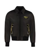 Prada Padded Bomber Jacket - black