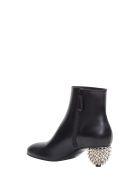 Alexander McQueen Spiked Heel Ankle Boots - Nero
