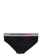 Dolce & Gabbana Cotton Briefs With Elastic Logo Band - black