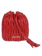 Miu Miu Matelassé Quilted Bucket Bag - Red