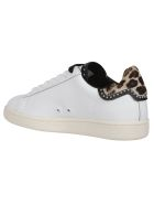 M.O.A. master of arts Mickey Mouse Fur-trimmed Sneakers - White
