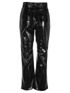 Philosophy di Lorenzo Serafini Philosophy Polished-effect Cropped Trousers - BLACK