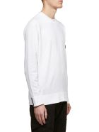 Stone Island Knit Logo Sweater - Bianco