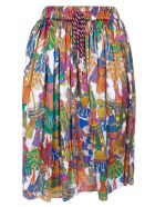 Shirt a Porter Tassel Print Skirt
