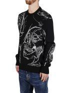 Alexander McQueen Black Wool-cashmere Blend Jumper - BLACK/SILVER