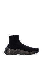 Salvatore Ferragamo Raquel Knitted Sock-style Sneakers - black