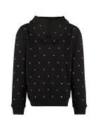 Saint Laurent Cotton Full Zip Hoodie - black