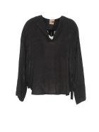 (nude) Top Shirt - Black