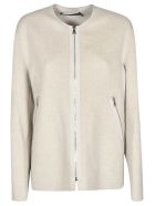 Sofie d'Hoore Round Neck Zip Jacket - Light Beige