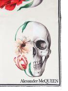 Alexander McQueen Skull Bloom Foulard - White