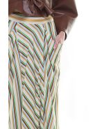 3.1 Phillip Lim Striped Satin Maxi Skirt - Multicolor