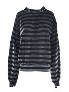 RTA Silver-toned And Black Fabric Pullover - Rigato