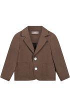 Little Bear Brown Jacket For Babykids - Brown