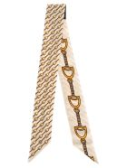 Gucci Gucci Neck Bow With Stirrups Print - WHITE GOLD