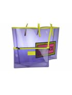 Versace Vinile Vintage Logo 90's Tote Bag - Purple