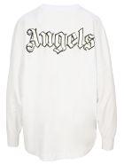 Palm Angels Logo L/s Tee - Bianco