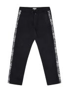 Kenzo Kids Logoed Side Stripes Track-pants - black