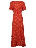 Alexis Polka-dot Dress - Mandarin Shell
