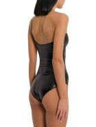 Oseree Lattex Maillot One Shoulder Swimsuit - Nero