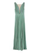 Elisabetta Franchi Celyn B. Lurex Jersey Long Dress - green
