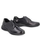 Prada Linea Rossa Leather Lace-up Derby Shoes - Nero