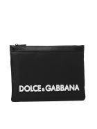 Dolce & Gabbana Logo Embossed Clutch - Nero/bianco