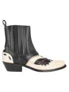 Golden Goose Santiago Ankle Boots - BLACK - WHITE