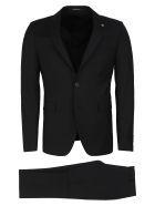 Tagliatore Virgin Wool Two Piece Suit - black