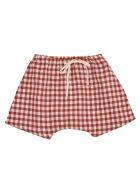 Babe & Tess Check Shorts - White/Red