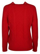 Ermanno Scervino Knitted Sweater - red