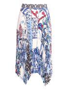 Tory Burch 'sunburst' Polyester Skirt - Tile Mosaic