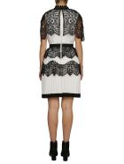self-portrait Mini Laced Detail Cape Dress - Multicolor
