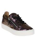 Giuseppe Zanotti Purple Leather Sneakers - Purple