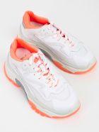 Ash Mesh Panel Sneakers - White Fluo Orange