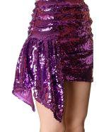 For Love & Lemons Skirt Coated With Paillettes Color Purple - Purple