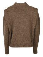 Isabel Marant Embellished Detail Cropped Jumper - brown