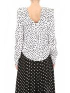 self-portrait Printed Satin Top - IVORY BLACK (White)