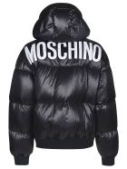 Moschino Rear Logo Padded Jacket - Nero