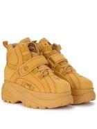 Buffalo 1348 Beige Leather High Top Sneaker - BEIGE
