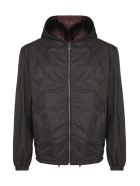 Prada Linea Rossa Hooded Jacket - Nero bordeaux