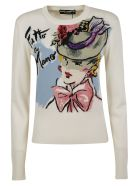 Dolce & Gabbana Graphic Print Knit Sweater - multicolored
