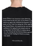 Throw Back Donnie Black Cotton T-shirt - Black