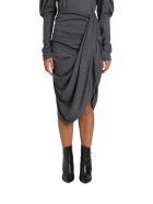 Isabel Marant Datisca Draped Midi Skirt - Grigio