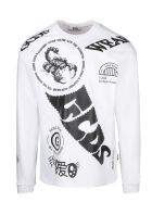 GCDS Elements Long Sleeves T-shirt - White