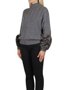 Agnona Grey Cashmere Jumper - Grey