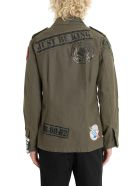 Dolce & Gabbana Field Jacket With Patches - Verde