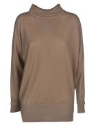 Lorena Antoniazzi Round Neck Pullover - Camel