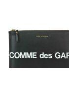 Comme des Garçons Wallet Huge Logo Pouch - Black