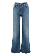 Mother Tomcat Roller Fray Flared Jeans - Denim